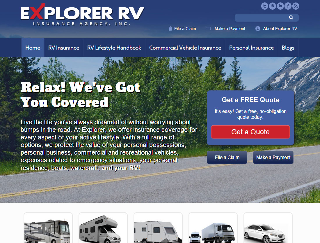 Explorer RV website