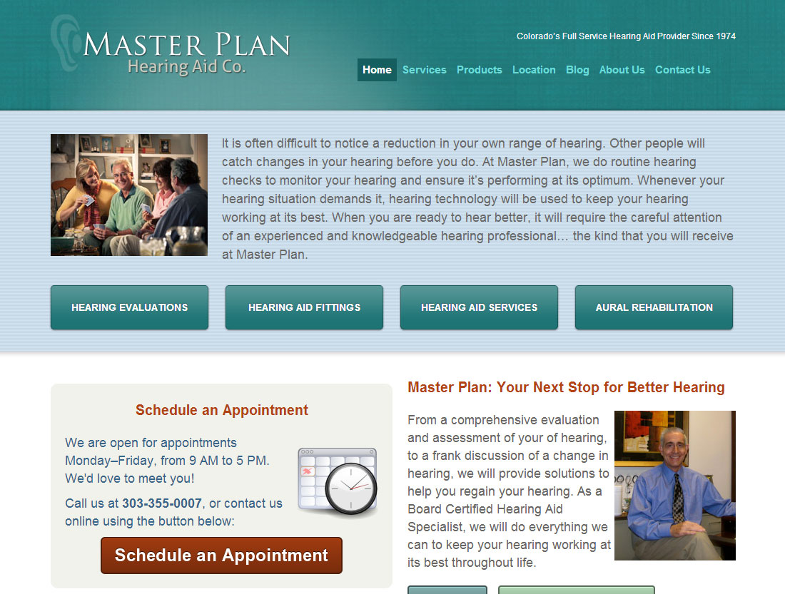 Master Plan Hearing Aid Co website