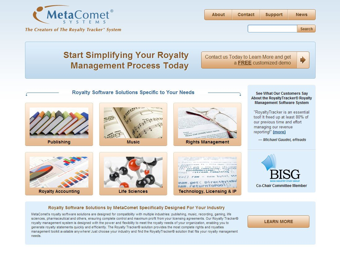 MetaComet website