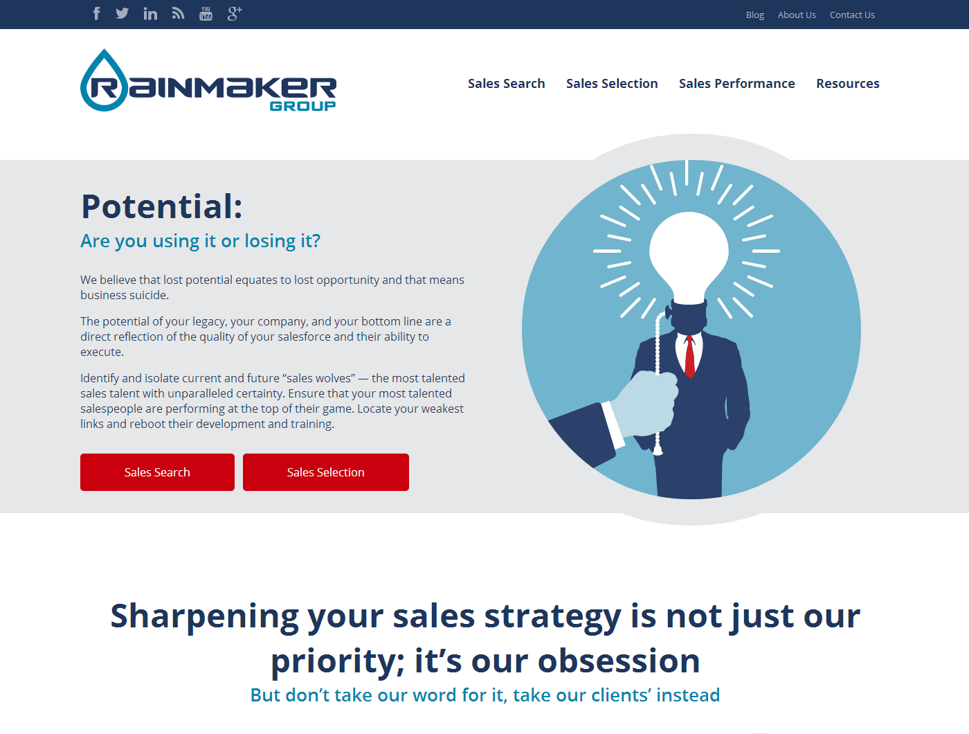 The Rainmaker Group website