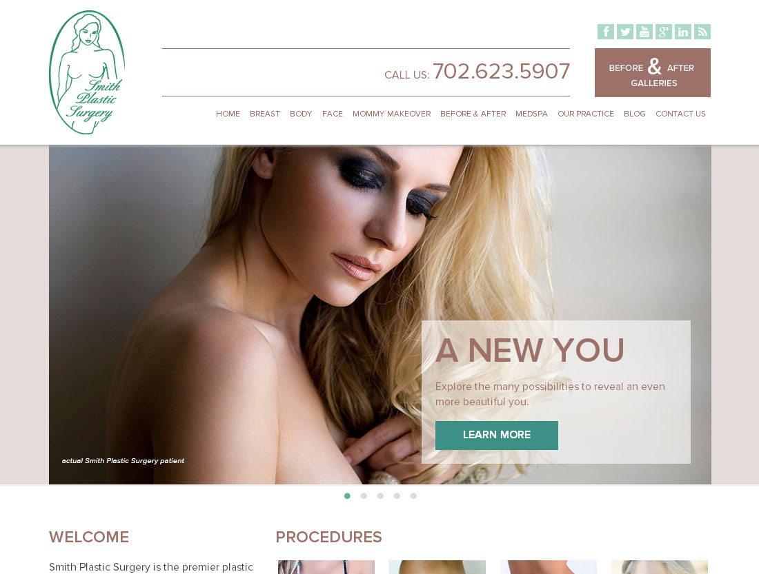 Smith Plastic Surgery website
