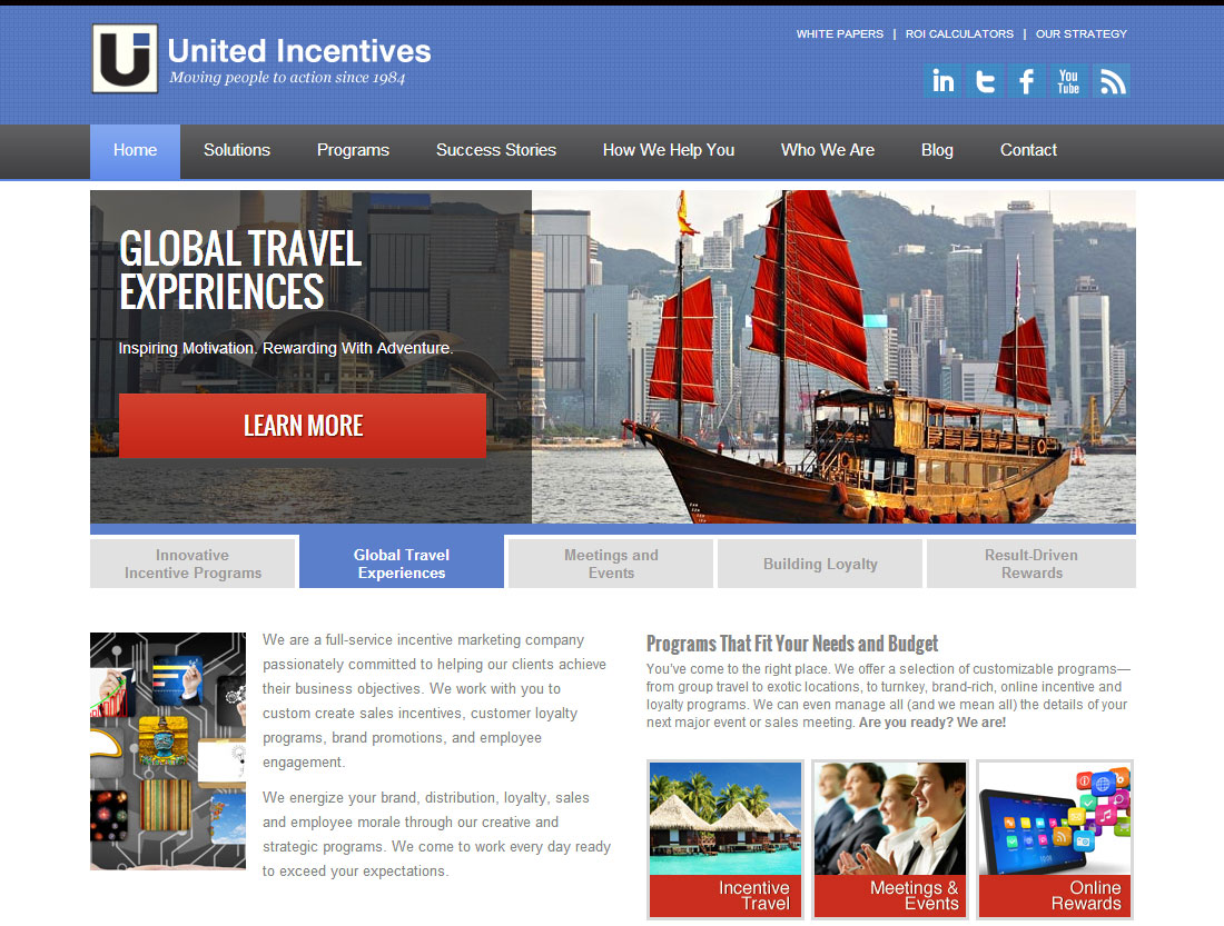 United Incentives website