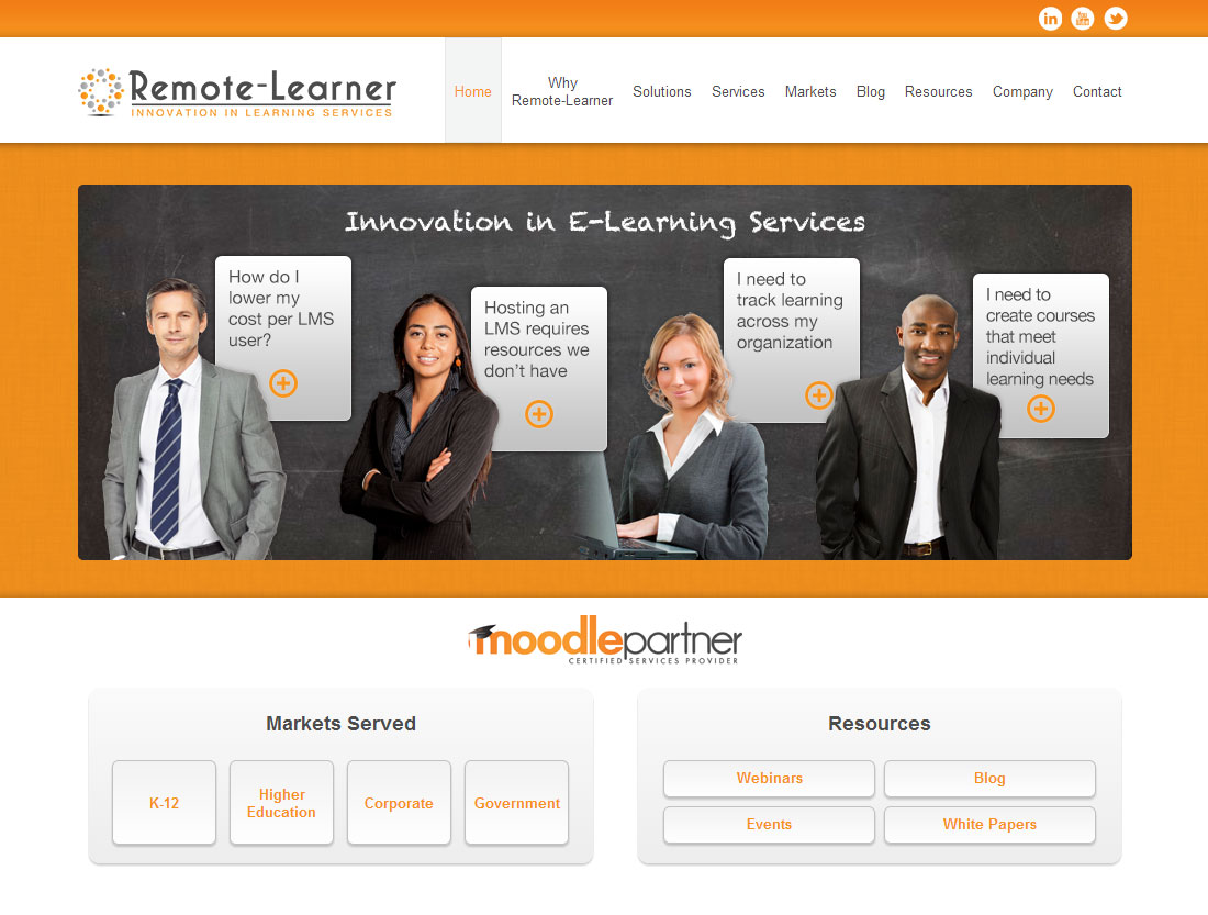 Remote-Learner website