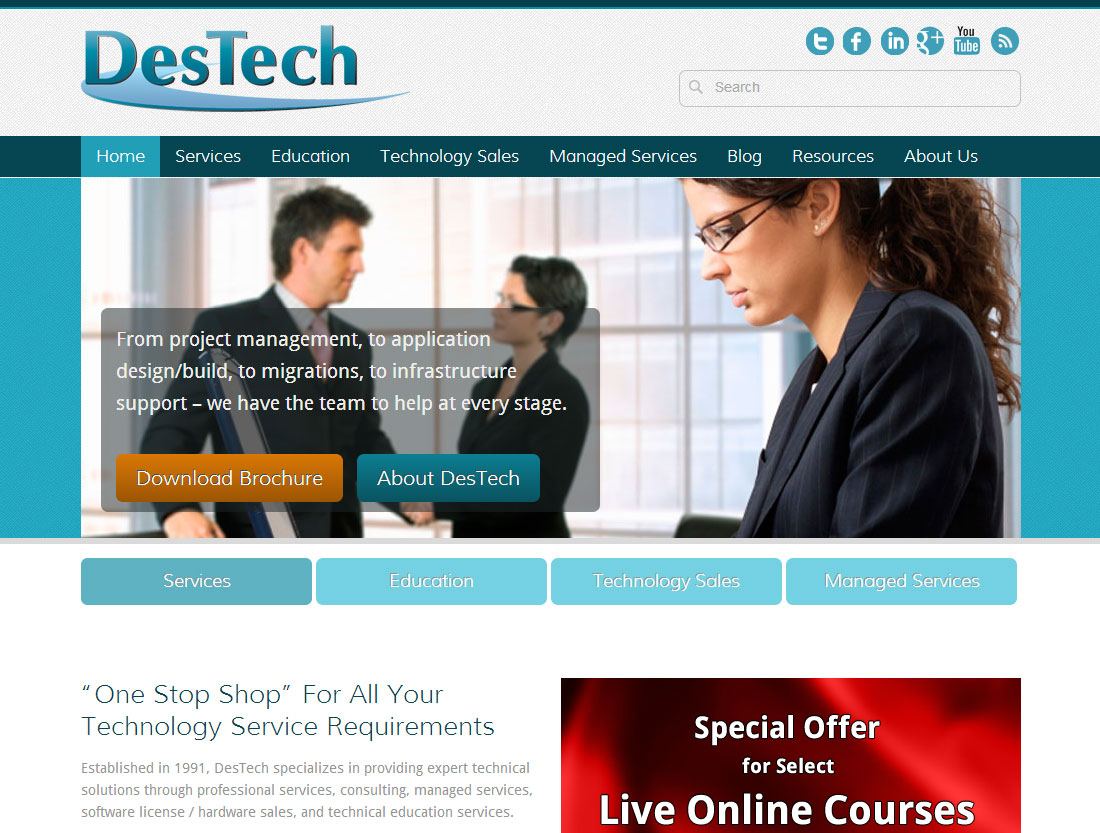 DesTech website