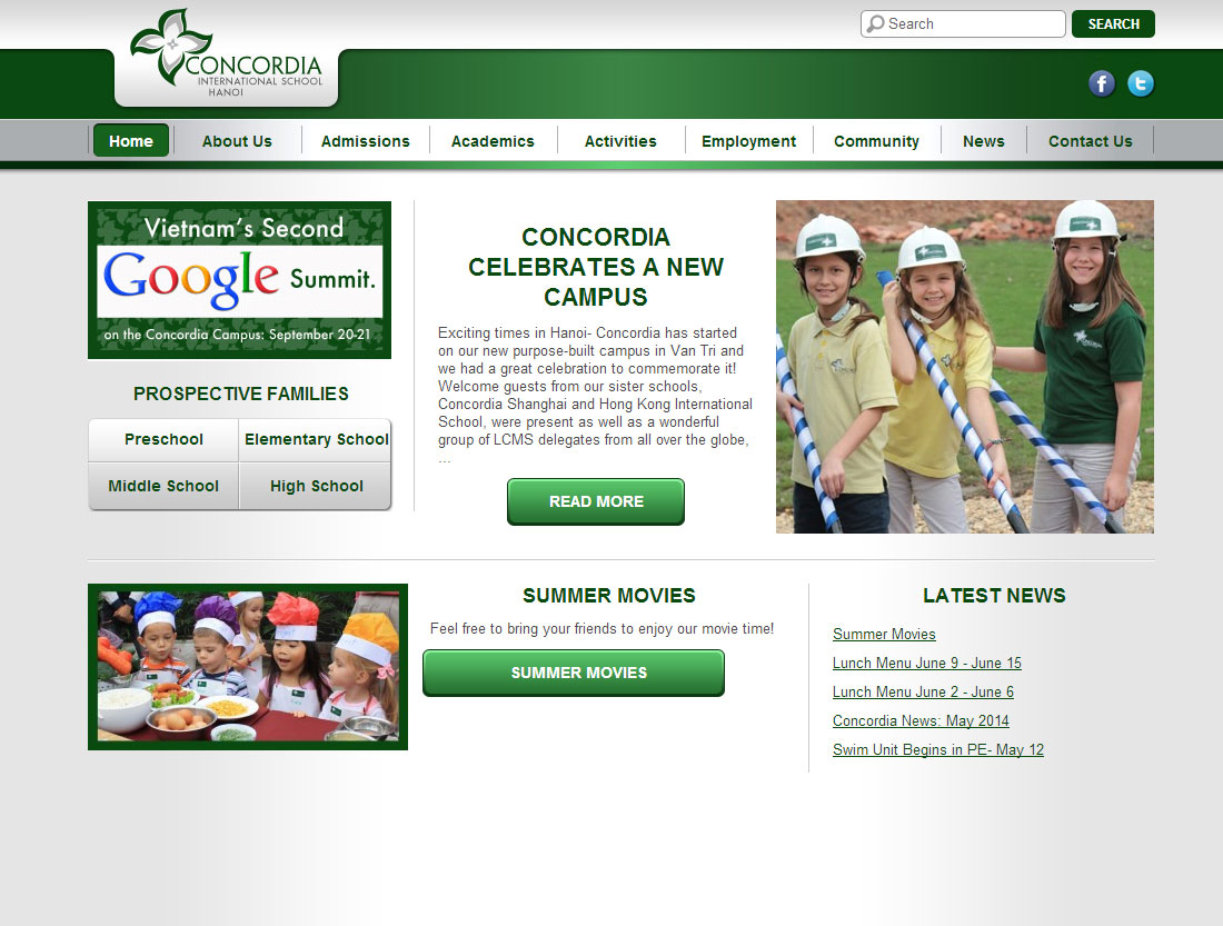 Concordia International School Hanoi website