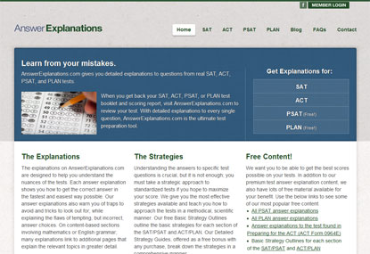 Answer Explanations website