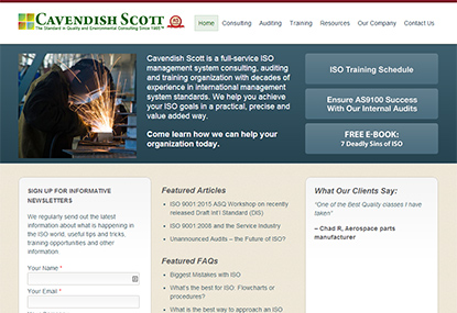 Cavendish Scott website