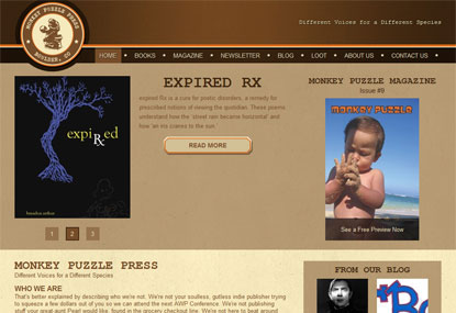 Monkey Puzzle Press website