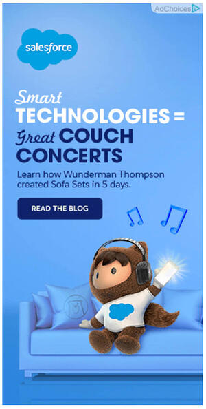 Retargeting ad from Salesforce