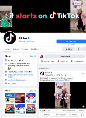 Social Media TikTok Facebook Image