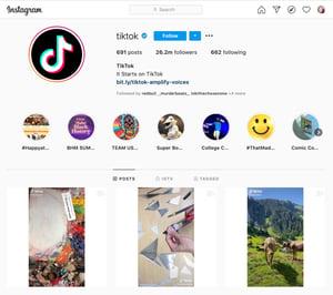 Social Media TikTok Instagram