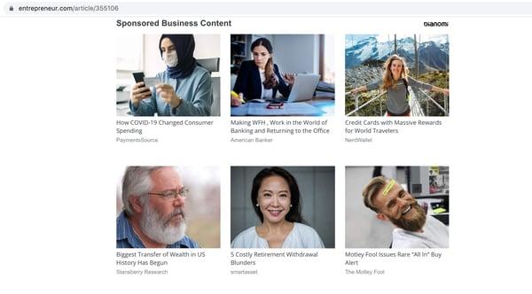 Sponsored Content on Entrepreneur