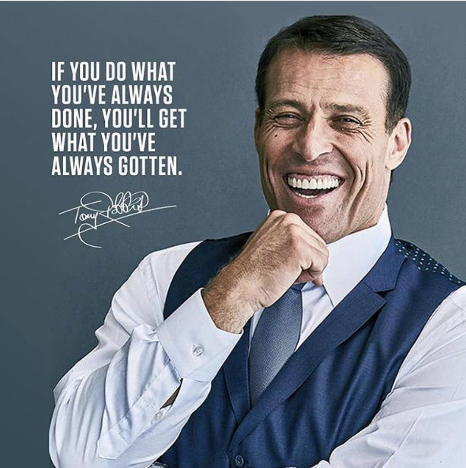 Tony Robbins quote (lead generation)